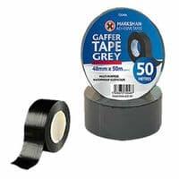 BLACK DUCT TAPE 48mm x 50m ROLL GAFFER REPAIR HEAVY DUTY WATERPROOF